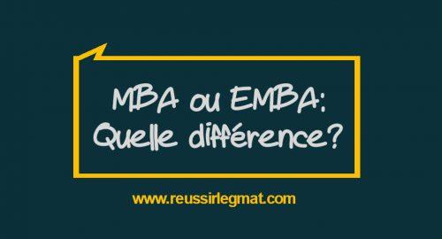 MBA ou EMBA