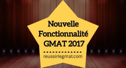 Nouvelle Fonctionnalité GMAT 2017